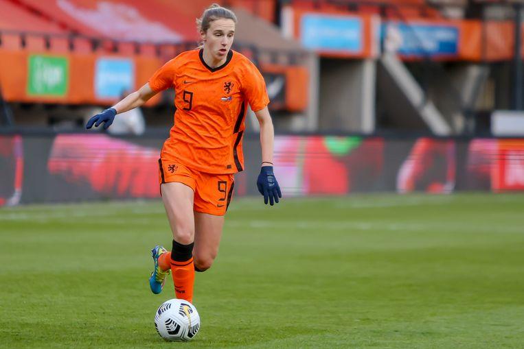 Vivianne Miedema, topscorer van Nederland in Japan.  Beeld Pro Shots / Remko Kool