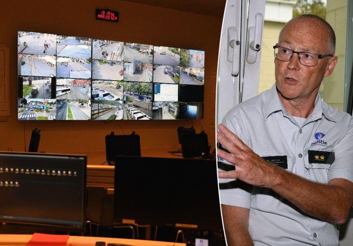 In het commandocentrum in Leuven wordt tijdens het WK wielrennen niets aan het toeval overgelaten. Rechts: politiewoordvoerder Marc Vranckx