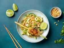 Wat Eten We Vandaag: Citroengras-visspiesjes met noedelsalade