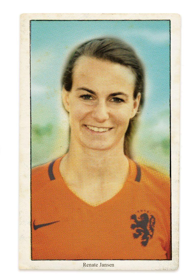 Voetbalster Renate Jansen. Beeld studio vonq