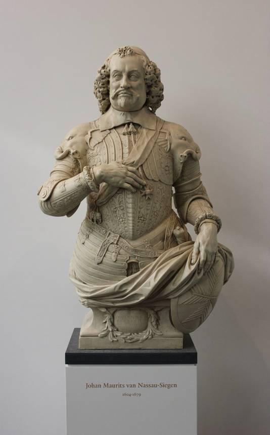 De buste van naamgever Johan Maurits van Nassau-Siegen in het Mauritshuis.