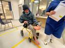 Van Weelden in het ziekenhuis vanwege een aantal enorme blaren op zijn voeten.