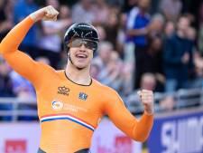 Wereldkampioen Harrie Lavreysen gaat de nieuwe Champions League op sleeptouw nemen, alleen nu nog even niet