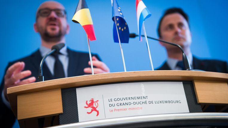 Premier Charles Michel was vorige week op bezoek in Luxemburg. Beeld BELGA