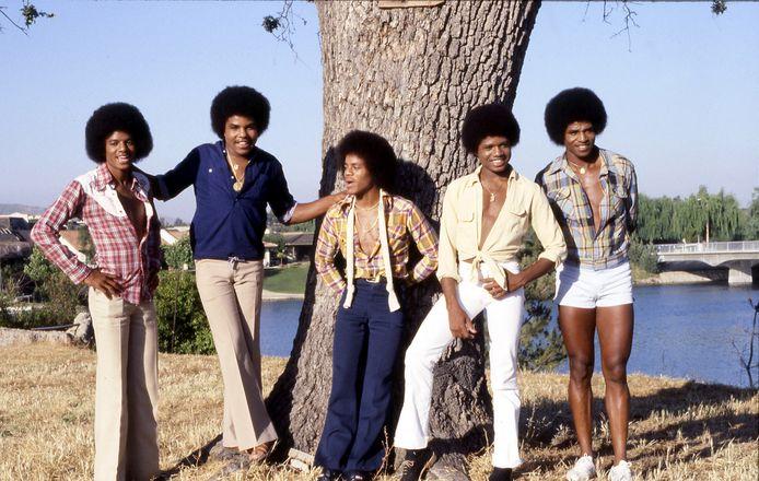 Michael Jackson, Tito Jackson, Marlon Jackson, Randy Jackson en Jackie Jackson in 1978 in Westlake Village, California.