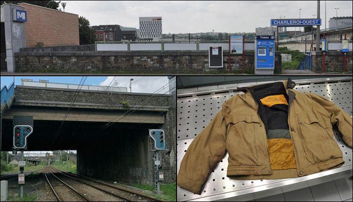 De plaats waar de man werd gevonden, en de jas die hij droeg.