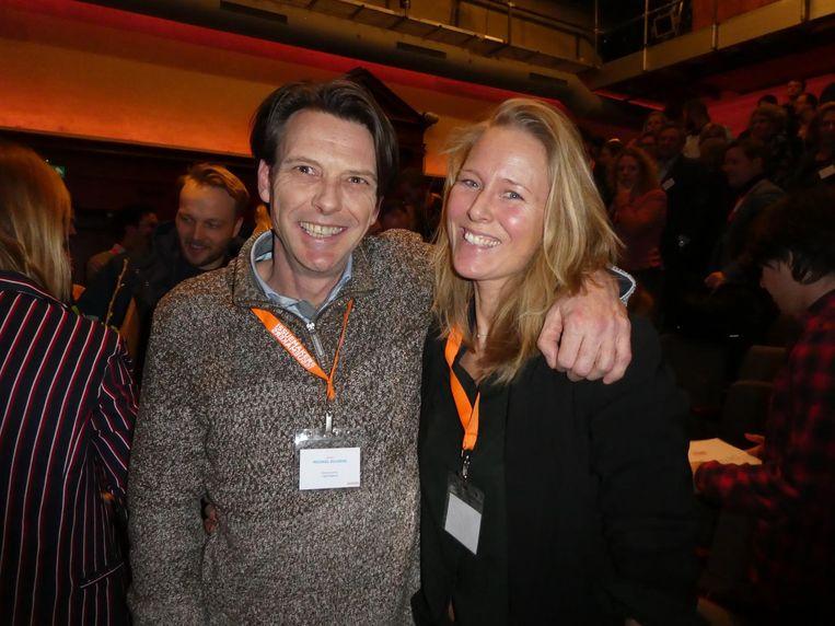Genomineerde Michael Kulkens, strijder tegen appen in het verkeer. Met zus Yvette Kulkens. Beeld Schuim