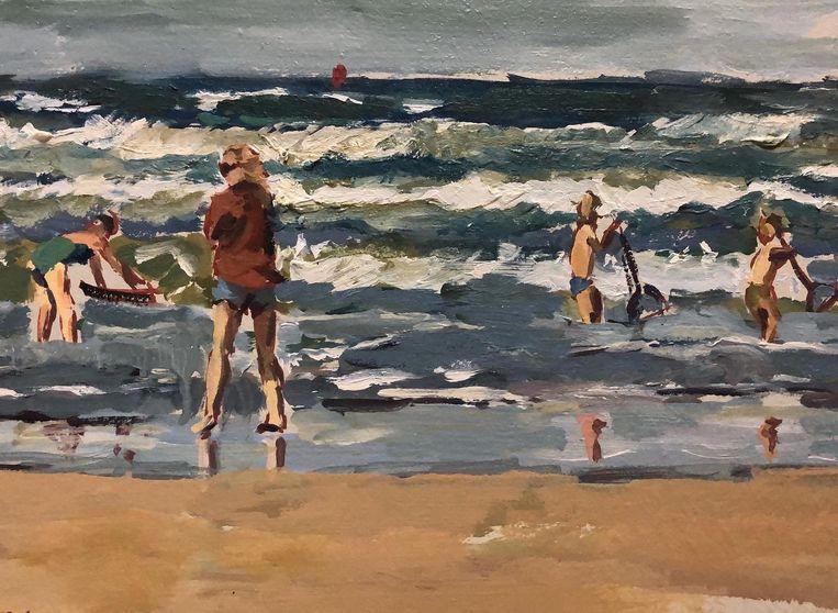 De Amsterdamse schilder Ellen Davidzon exposeert deze maand, ondanks de coronamaatregelen, in Roelof Hartstraat 7 Beeld Ellen Davidzon