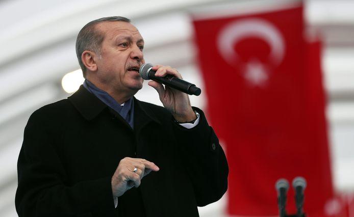 Erdogan tijdens een eerdere speech