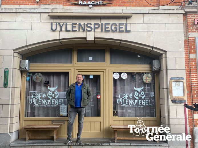 Robby Verelst, uitbater van café Uylenspiegel.