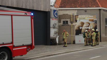 Brandweer opgeroepen naar stikstoftank bakkerij Ponnet