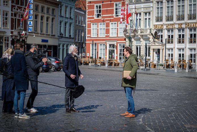 Erik Scherder is hoogleraar neuropsychologie en presenteert het programma Erik Scherder Onderzoekt. Maandag was hij voor opnames in Bergen op Zoom.