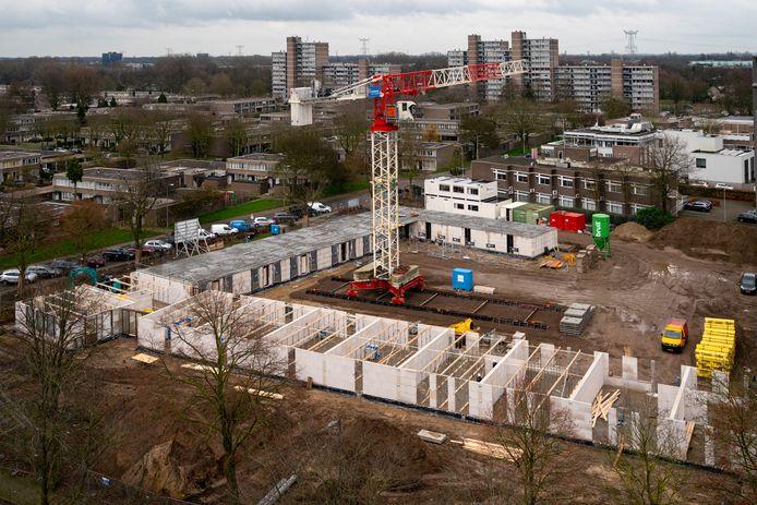 Het afgelopen jaar werden er 70 woningen gebouwd aan de Sint-Teunislaan in Den Bosch