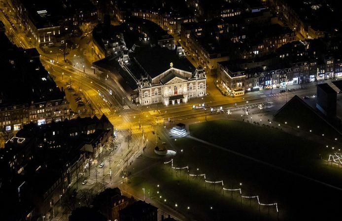 Het Museumplein in Amsterdam.