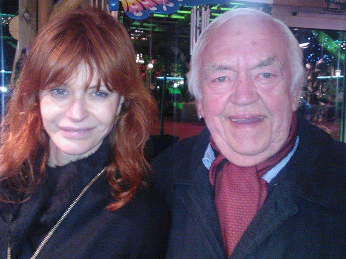 Axelle Red samen met haar vader Roland Demal.