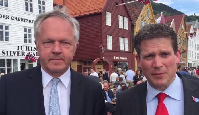 Henk Jan Meijer (links) en René de Heer in Bergen.
