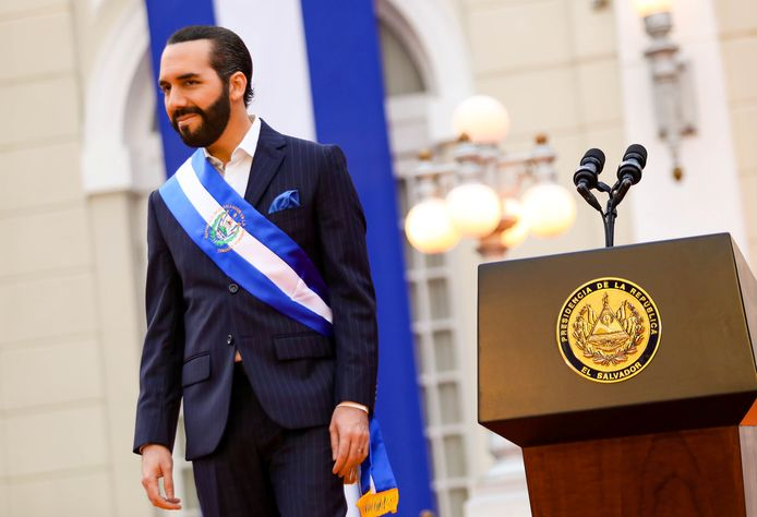 De president van El Salvador, Nayib Bukele.