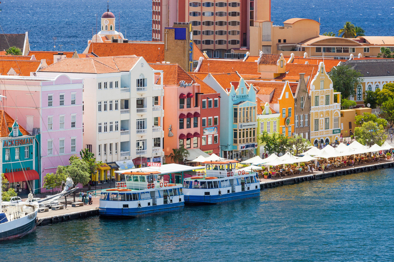 Willemstad in Curaçao.