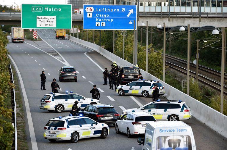 Denemarken 28 september 2018: Na aanwijzingen voor geplande aanslagen op Deense bodem vindt een grootschalige klopjacht plaats. Beeld EPA