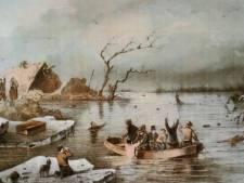 Lith hielp verdronken land van Maas en Waal langs gevaarlijke ijsschotsen