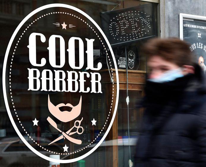 Barbier fermé à Bruxelles, ce 1er février dernier.