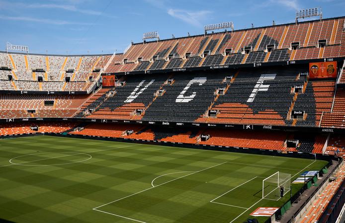 Het Mestalla Stadium in Valencia.
