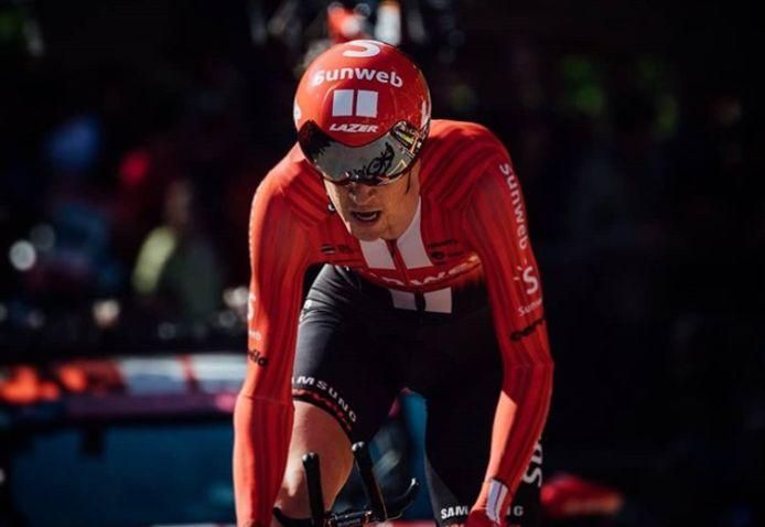 Chad Haga klopte vorig jaar Victor Campenaerts en Thomas De Gendt in de slottijdrit van de Giro.