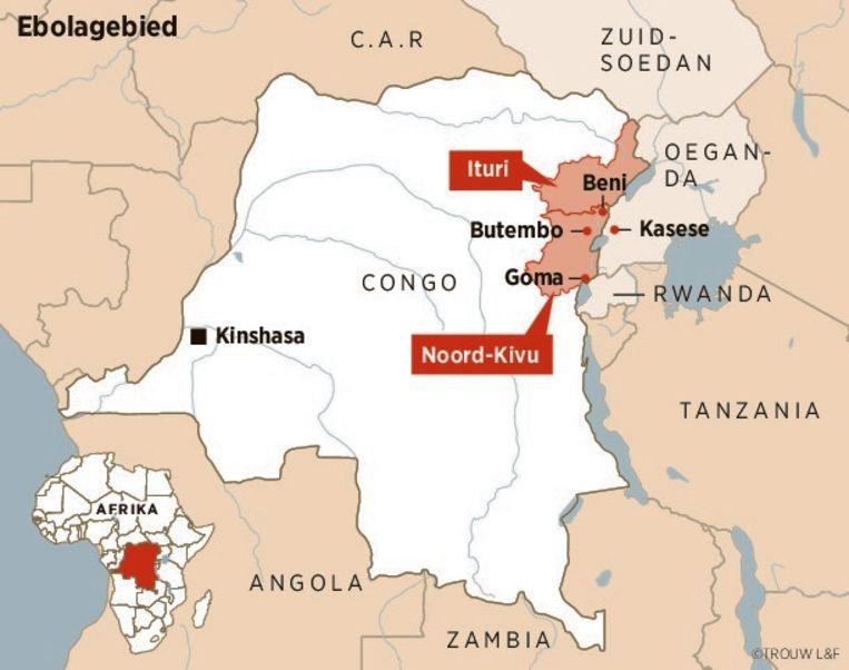 Het grensgebied van Oost-Congo, geteisterd door gevechten en ebola. Beeld Trouw
