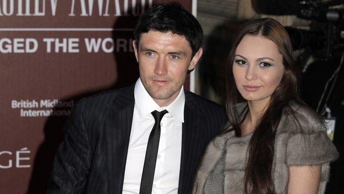Yuri Zhirkov en Inna Zhirkova (rechts).