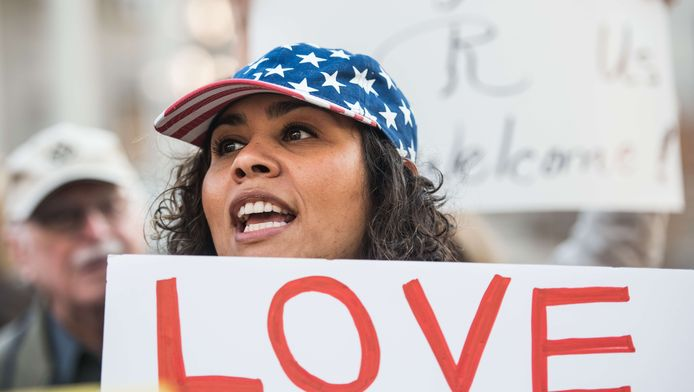 Demonstratie in Columbia, South Carolina