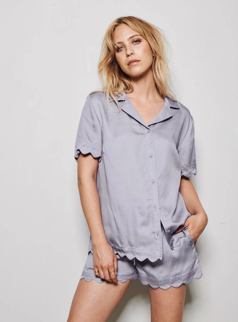 Underprotection Jane Short Shirt & Shorts in Purple Beeld Underprotection