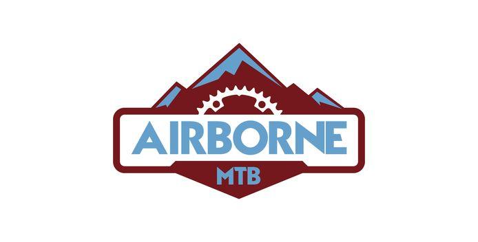 Het logo van Airborne MTB, de nieuwe fietsvereniging voor mountainbikers uit Arnhem en omstreken.