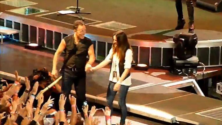 The Boss en zijn dochter. Beeld Screenshot YouTube