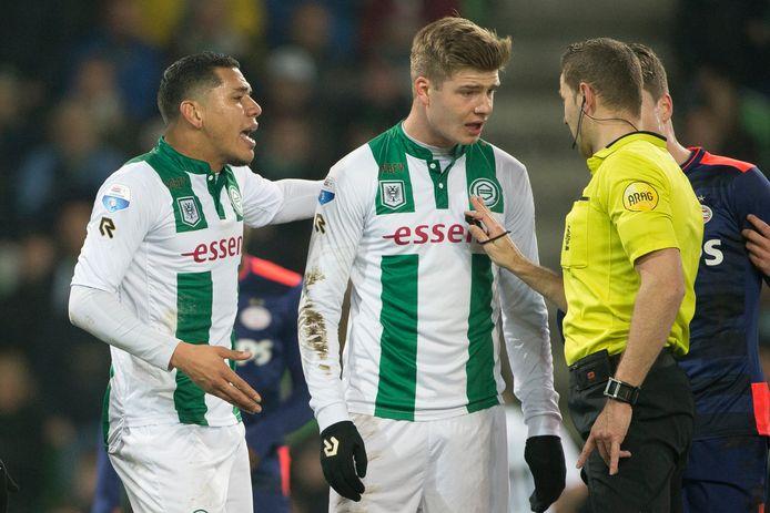 Archieffoto: Alexander Sorloth (m) in het shirt van FC Groningen.