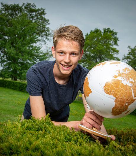 Pepijn (17) uit Hall is de beste aardrijkskundeleerling van Nederland: 'Je gaat natuurlijk wel altijd voor de winst'