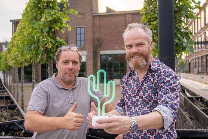Clemens Falkmann, eigenaar Paviljoen de Ontmoeting en Erwin Kwakman, eigenaar de Cactus