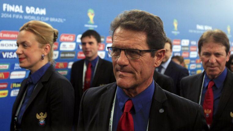 Fabio Capello zal ook niet ontevreden zijn met de loting. Beeld REUTERS