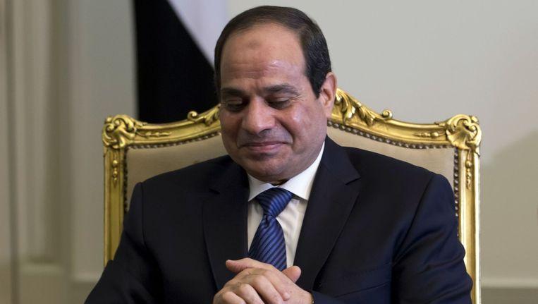 De Egyptische president Abdel Fattah al-Sissi. Beeld BELGA