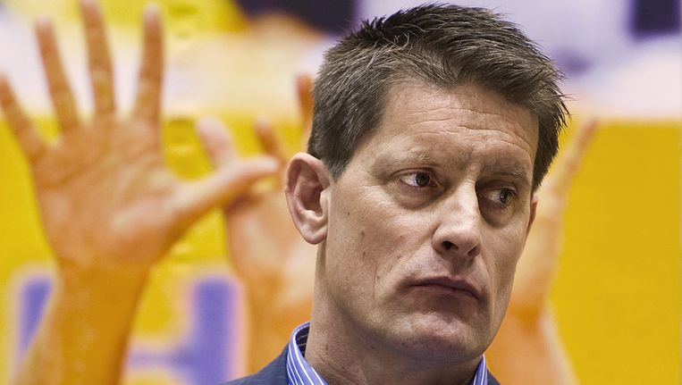 Edwin Benne, bondscoach van de Nederlandse volleybalmannen. Beeld ANP
