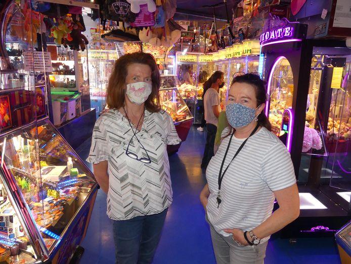 Renée en Christine Depelsemaeker van Lunapark Las Vegas.