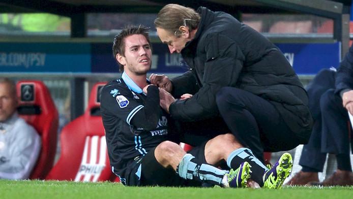 Gehrt viel gisteren uit in het duel met PSV.