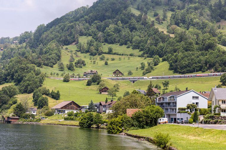 Het Zugermeer in het hart van Zwitserland. Beeld Julius Schrank