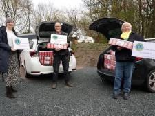 Lionsclub zamelt bijna 2000 koffiezakken in voor Nijkerkse voedselbank: een recordaantal