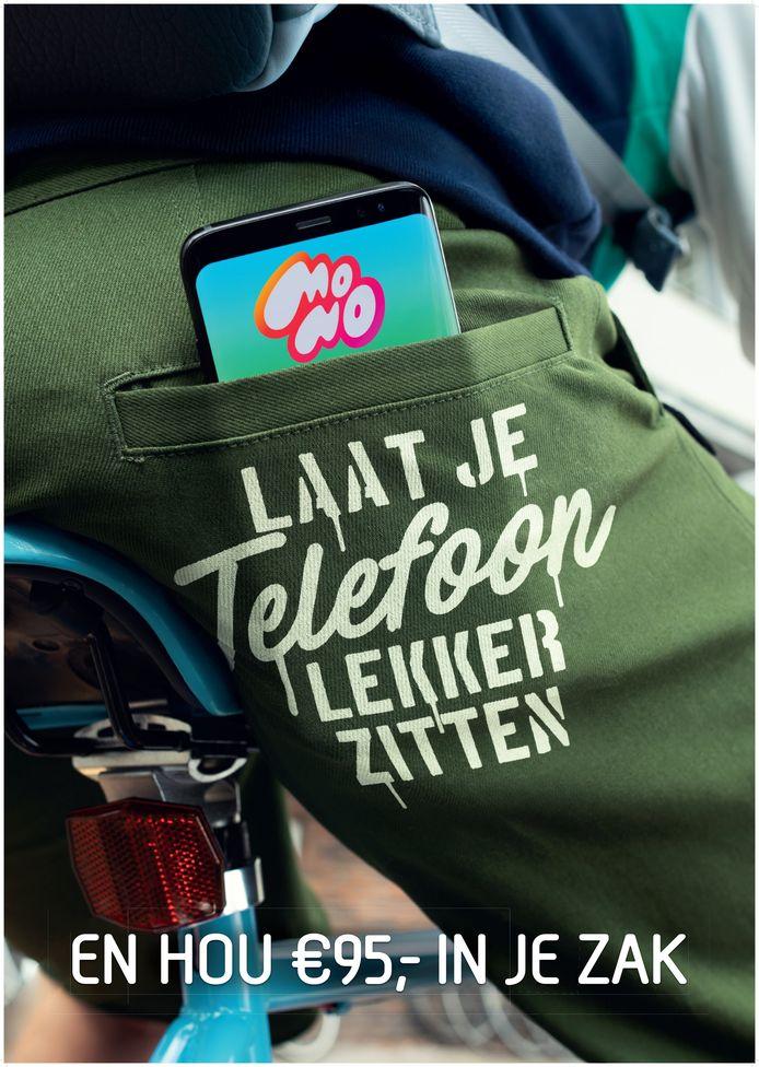 Campagne tegen appen op de fiets. Laat je telefoon lekker zitten.