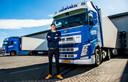Trucker Nils Peelen bevoorraadt supermarkten.