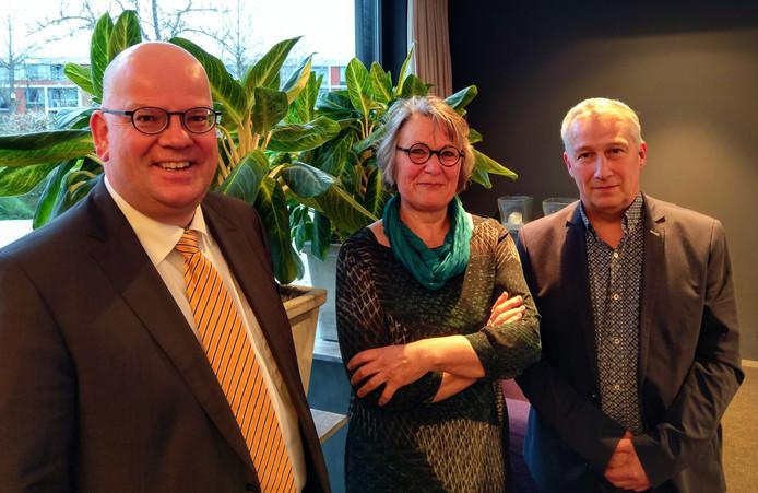 Kees Weststrate, Marga van der Plasse en Arno Witkam (van links naar rechts)