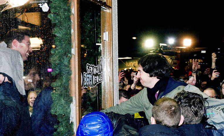 Iets na 21.00 uur sloot Snow Patrol-zanger Gary Lightbody de deuren van het Glazen Huis op een stampvolle Beestenmarkt in Leiden. Beeld ANP Kippa