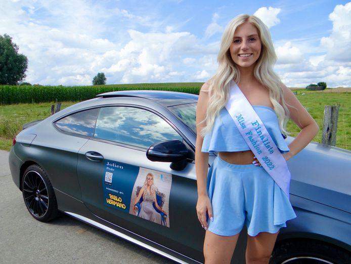 Jolien Pede dingt mee naar het kroontje van Miss Fashion.