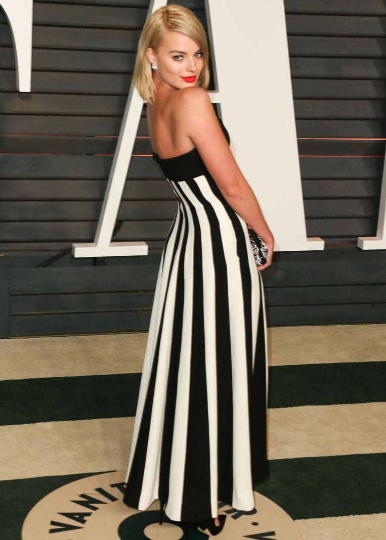 Margot Robbie op de 'Vanity Fair Oscar Party'. Beeld PHOTO_NEWS