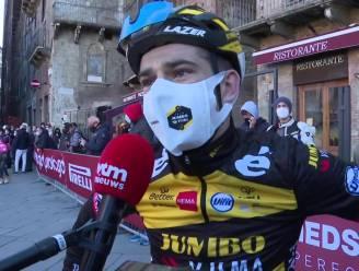 """Van Aert tevreden met vierde plaats in 'zijn' Strade Bianche: """"Nog iets beter worden en dan gaan we een mooi klassiek seizoen tegemoet"""""""